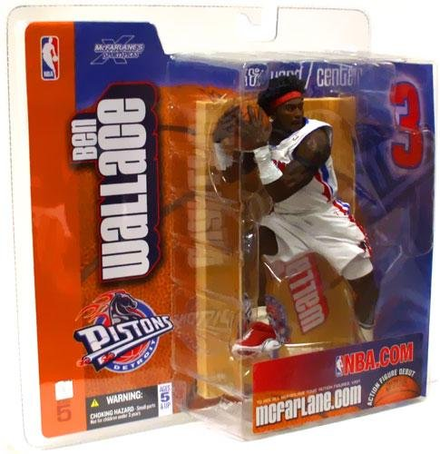 Sports Mcfarlane Picks: Nba Series 5 > Ben Wallace White Uniform Detroit Pistons Action Figure