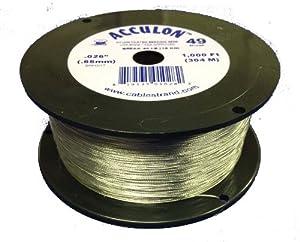 acculon 49 strand beading wire 026 quot bright