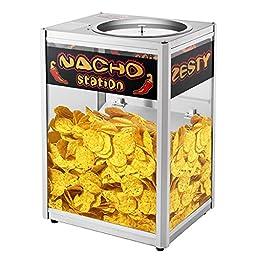 Cabinet Style Nacho Chip Warming Station, Black