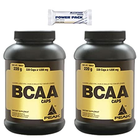 Peak BCAA Caps 480 Kapseln Sonderangebot 2 Dosen + Multipower Riegel 35g