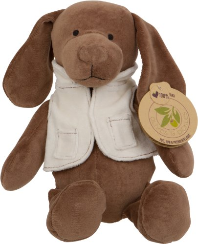 Olives And Pickles Organic Plush Toy, Puppy Maxime Brown, Medium front-1059252