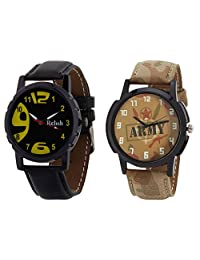 Relish Black Analog Round Casual Wear Watches For Men - B019T7L7WE