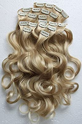 "PRETTYSHOP XXL Full Head Set 8 pcs 20"" Clip In Hair Extensions Hairpiece Wavy Heat-Resisting"