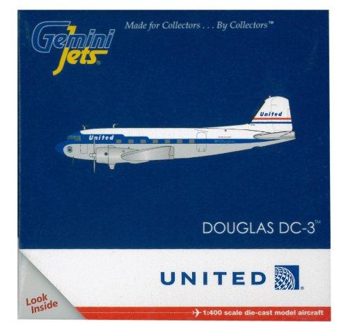 gemini-jets-gjual1109-united-airlines-douglas-dc-3-1400-diecast-model