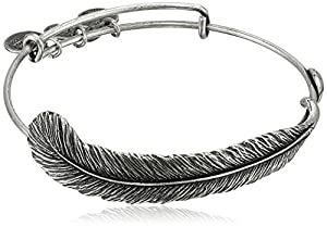 "Alex and Ani Earth Sultry ""Plume Feather"" Bangle"
