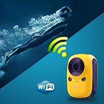Flylinktech® DREAM WI-FI Wireless Waterproof HD 1080P Sports Action Video Camera with Mini LCD +16GB Card(WIFI)