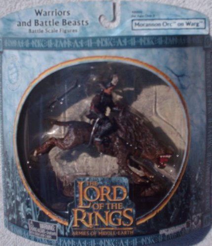 Lord of the Rings Armies of Middle Earth: Morannon Orc on Warg Figure 1/24 Scale - 1