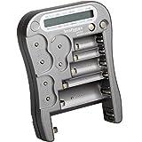 Kraftmax Batterietester Universal Batterie und Akku Testgerät mit LCD-Display -