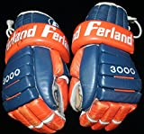 Signed Game-used Pat Lafontaine Ferland 3000 Gloves Ny Islanders Loa Auto - JSA Certified - Game Used NHL Gloves