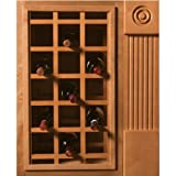 More Omega National Sonoma Series Cabinet Mount Wine Lattice, 28 Bottle Capacity, 24 inch W x 43 inch H, Red Oak Unfinished Wood