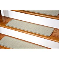 Dean Non-Slip Tape Free Pet Friendly Stair Gripper Natural Fiber Sisal Carpet Stair Treads - Island Sand 29