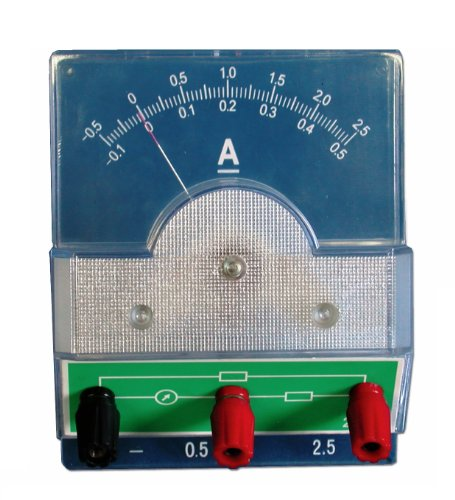 American Educational Overhead Projection Ammeter, -100Ma, -0 - 500Ma, -500Ma - 0 - 2.5A