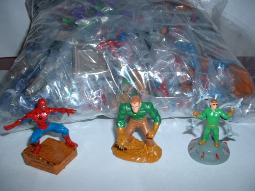 Picture of A&A Global 30 Fun Spiderman Buildable Figures Party Favors Featuring Spiderman, Sandman, Doc Octopus and more (B001G8C9RW) (Spider-Man Action Figures)