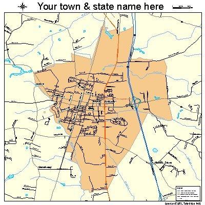 Street & Road Map of Ashland, Virginia