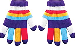 True Gear Cold Weather Children\'s Insulated Winter Colorful Gloves (Purple)