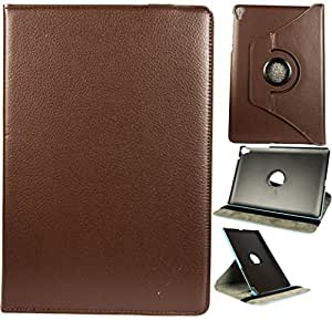 Superior Quality 360 Degree Rotating Cover Case with Stand for Google Nexus 9 (Dark Brown)