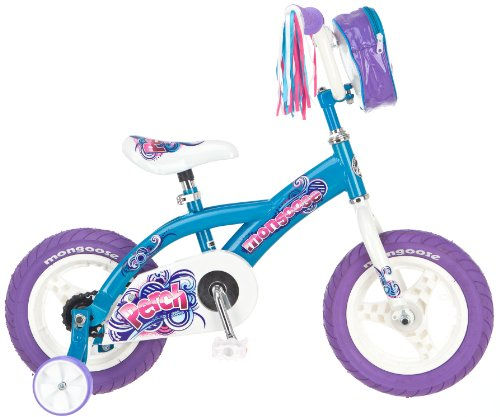 Mongoose Girl's Perch 12-Inch Bike, Blue