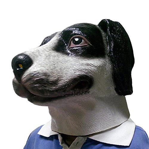 Halloween Latex Animal Spotted Dog Mask Costume Prop