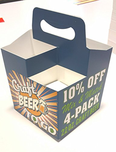 22 oz. Craft Beer 4pk Carriers 10% Off Mix and Match 50 carriers (22 Ounce Beer compare prices)