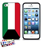 GENUINE Extra-Slim Black Case Flag Kuwait By MUZZANO for APPLE IPHONE 5
