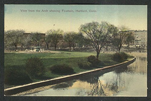 Soldiers Sailors Arch View Of Fountain Bushnell Park Hartford Ct Postcard 1910S