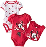 Disney Baby Girls Newborn Minnie Mouse 3 Piece Set, Pink, 3-6 Months