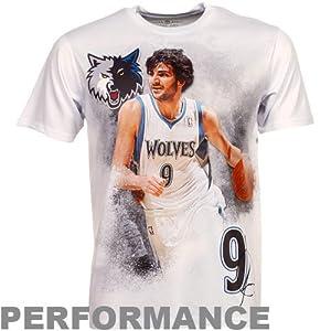 NBA Levelwear Ricky Rubio Minnesota Timberwolves Infinity Performance T-Shirt - White by Football Fanatics