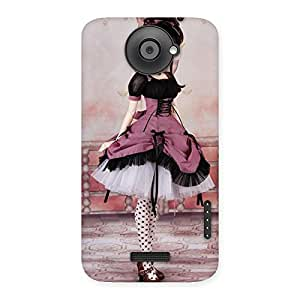 Special Cute Dancing Girl Multicolor Back Case Cover for HTC One X