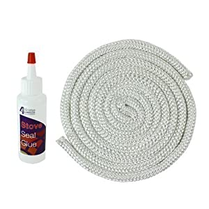 First4spares stove rope door seal 100ml for 14mm stove door rope
