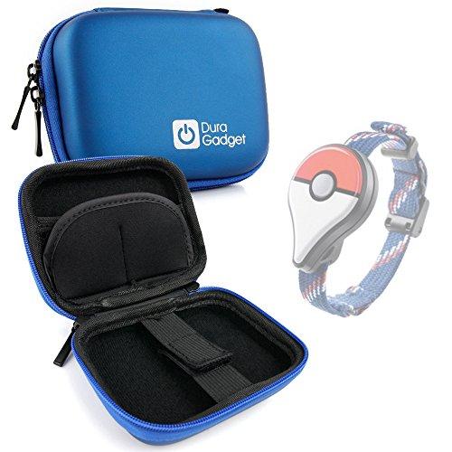 DURAGADGET Custodia Blu Per Pokemon Go Plus - Moschettone + Tasca Per Accessori