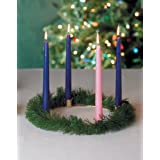 Candle Advent Wreath With Gold Finish - Comes With 4 10 Candles