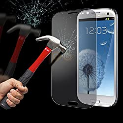 NOVICZ Samsung Galaxy S3 Mobile Phone Tempered Glass Screen Guard Scratch Protector