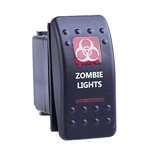 auto kfz boot rote led beleuchtet licht wippschalter ein aus schalter 12 24 oshide. Black Bedroom Furniture Sets. Home Design Ideas