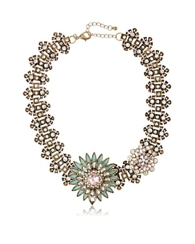 Leslie Danzis Green Garland Asymetrical Jeweled Necklace As You See
