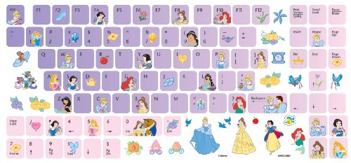 Apple laptop computer disney princess computer keyboard stickers 50