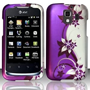 Cell phone case cover skin for huawei u8665 fusion 2 purple silver