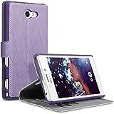 Terrapin Étui Housse en Cuir Ultra-mince Avec La Fonction Stand pour Sony Xperia M2 Coque - Violet