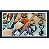 Banjo (guitar) And Glasses By Juan Gris - ArtsNyou Printed Paintings - B00QA17O0C
