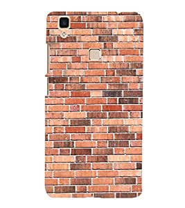 Simple Bricks Wallpaper 3D Hard Polycarbonate Designer Back Case Cover for VIVO V3 MAX