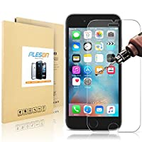 iPhone 6S Screen Protector, PLESON® iPhone 6S Glass Screen Protector (4.7 inch) [3D Touch Compatible] 0.3mm 99.9% HD 2.5D 9H Premium Tempered Glass Screen Protector for iPhone 6S - Lifetime Warranty from PLESON