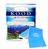 Kood 40.5mm UV Filter. Lens Protector. For all 40.5mm lens filter threads e.g. Nikon 1 Nikkor VR 10-30mm etc + Lens Tissues