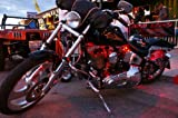 Red 4 PC LED Neon Motorcycle Lighting Kit