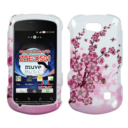 Mybat Ztex501Hpcim025Np Slim Stylish Protective Cover For Zte Groove X501 - 1 Pack - Retail Packaging - Spring Flowers front-692827