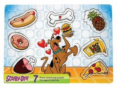 Picture of Pressman Toys Scooby-doo! Peg Puzzle - Food (B0041C0F62) (Pegged Puzzles)