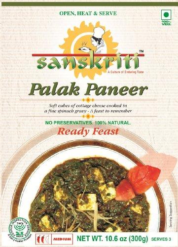 Sanskriti Palak Paneer, 10.6-Ounce Packages (Pack of 10)