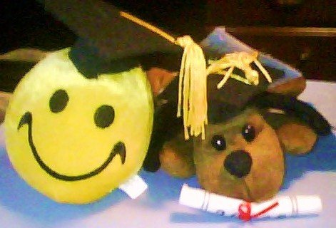 Graduation Day - Small White Teddy Bear
