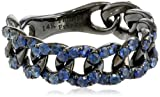 "Phillips Frankel ""Vibrant Affair"" Sapphire Chain Link Ring, Size 8"