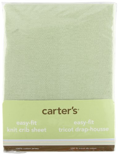 Carters Easy Fit Jersey Crib Fitted Sheet, Sage (Discontinued by Manufacturer)