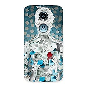 Cute Office Paper Back Case Cover for Moto X 2nd Gen