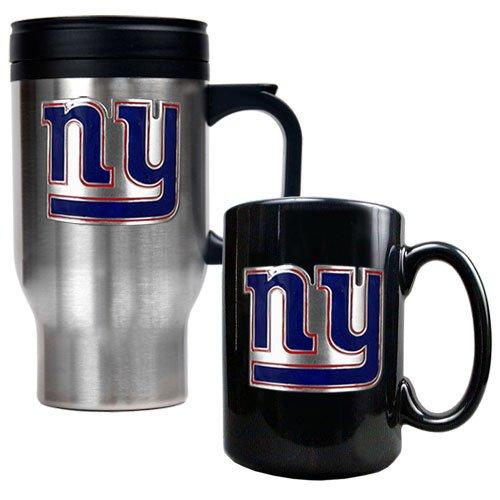 Nfl New York Giants Travel Mug & Ceramic Mug Set - Primary Logo